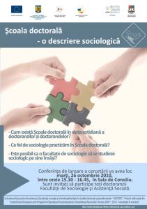 Afisul pentru prezentarea in fata doctoranzilor, 26.10.2010